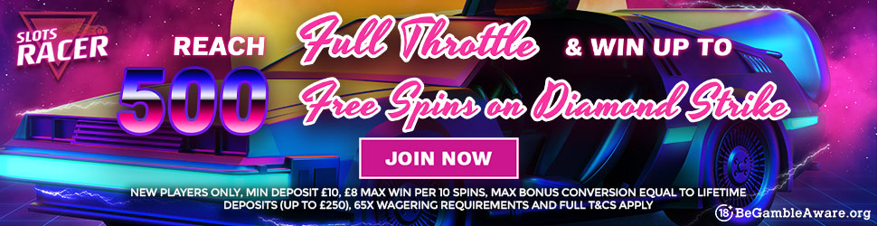 SLots Racer 500 Free Spins
