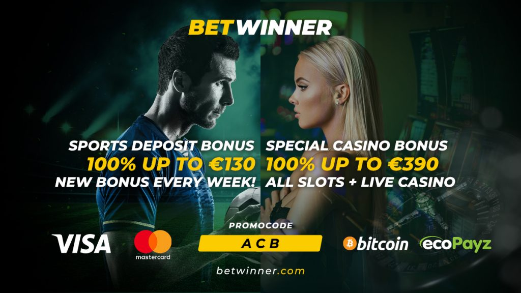 betwinner casino welcome bonus banner