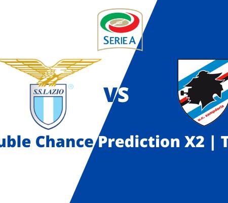 Lazio vs Sampdoria: Serie A double chance prediction