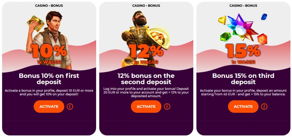 all right casino bonus
