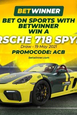 Join Betwinner and Win Porsche 718 Spyder