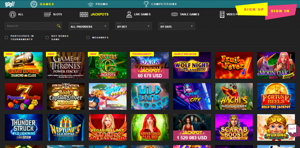 booi casino screen