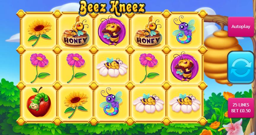 beez kneez slot review screen